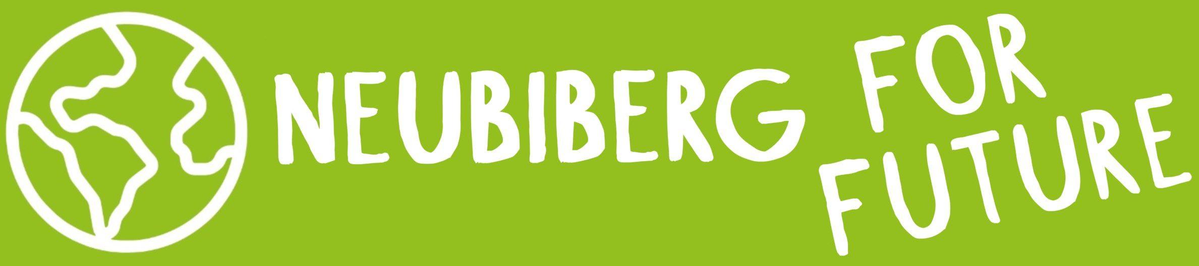 Neubiberg for Future Logo im Längsformat auf grünem Hintergrund
