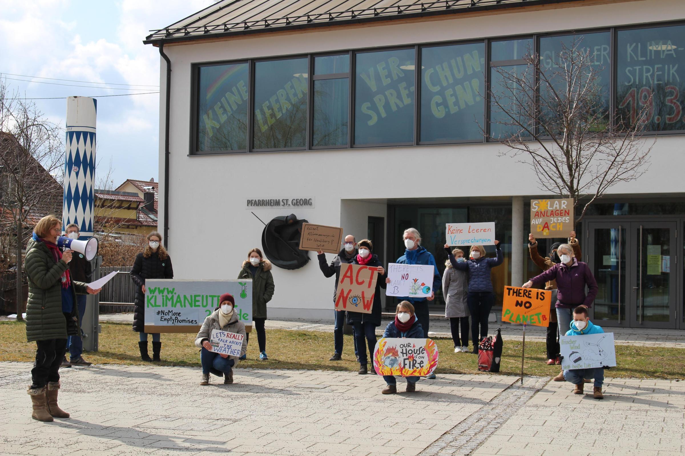 Unterbiberg: Demonstration zum globalen Klimastreik