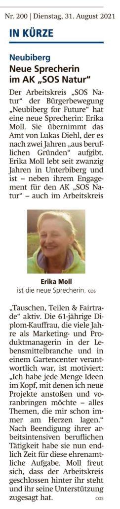 """Neue Sprecherin vom AK """"SOS Natur"""""""
